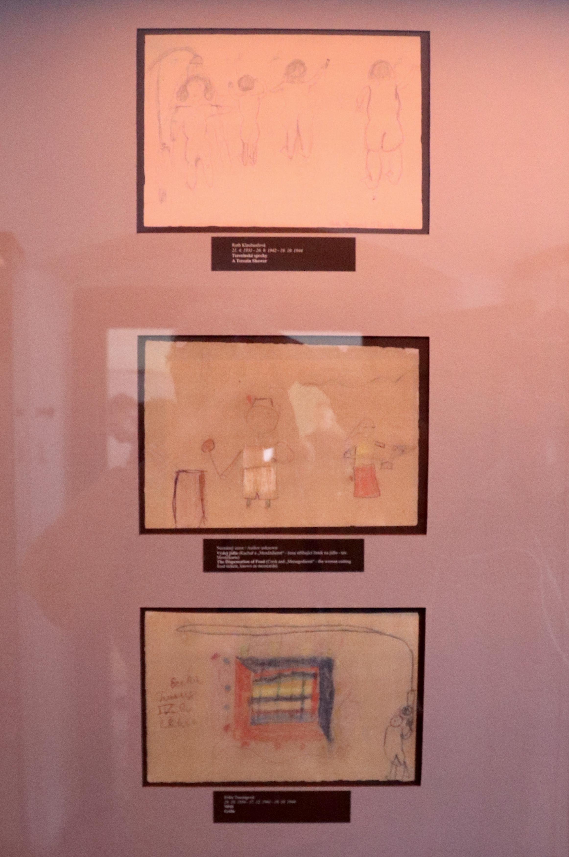 Pinkasova synagoga - kresby dětí
